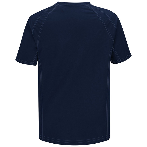 Bulwark FR iQ Series Comfort Knit Short Sleeve T-Shirt QT30 Dark Blue Back