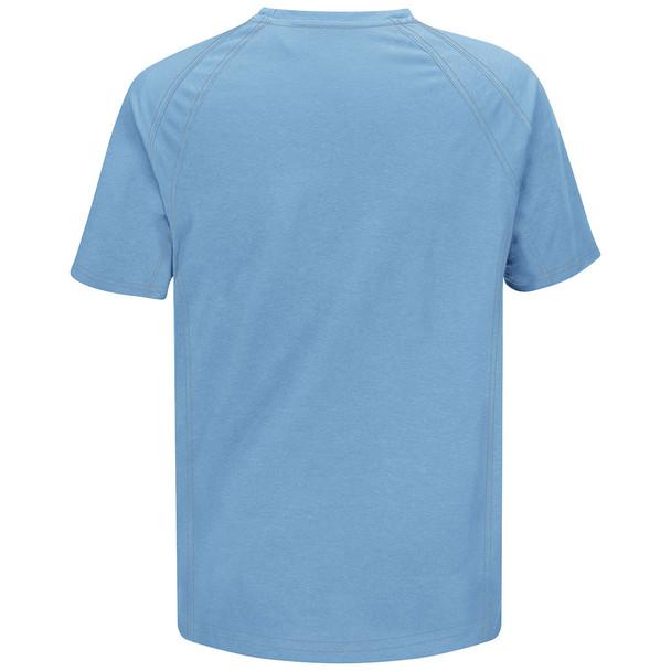 Bulwark FR iQ Series Comfort Knit Short Sleeve T-Shirt QT30 Light Blue Back
