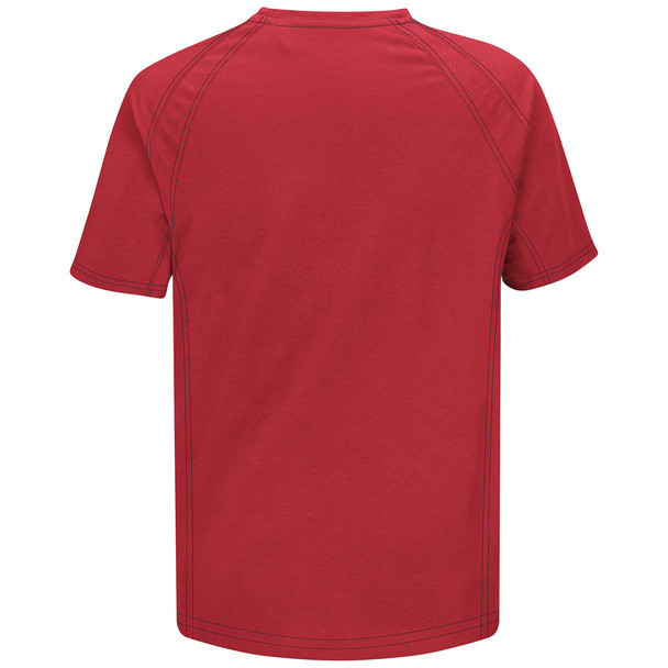 Bulwark FR iQ Series Comfort Knit Short Sleeve T-Shirt QT30 Red Back