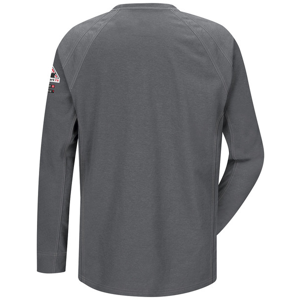 Bulwark FR iQ Series Comfort Knit Long Sleeve T-Shirt QT32 Charcoal Back