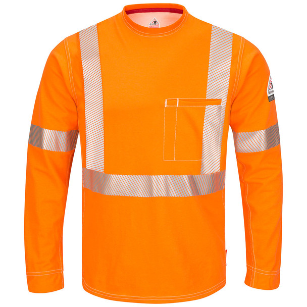 Bulwark FR X-Back iQ Series Comfort Knit Long Sleeve T-Shirt QT34 Front