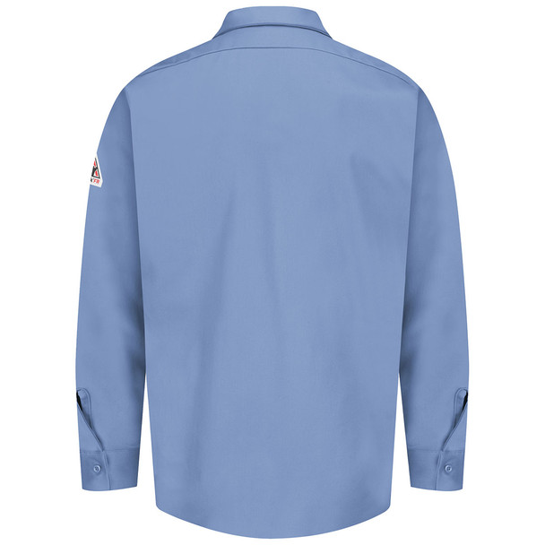 Bulwark FR 7 oz. Excel Dress Shirt SEW2 Light Blue Back