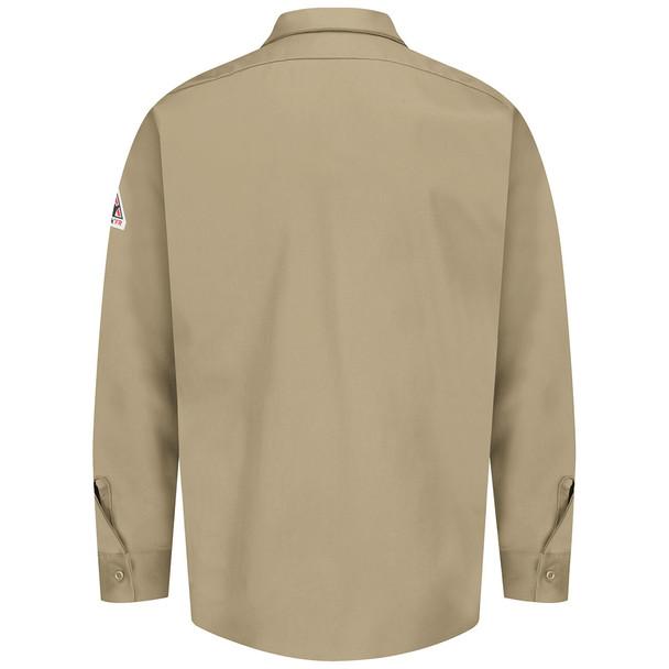 Bulwark FR 7 oz. Excel Dress Shirt SEW2 Khaki Back