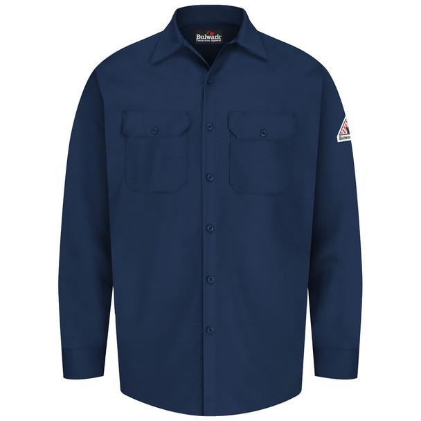 Bulwark FR 7 oz. Excel Dress Shirt SEW2 Navy Front