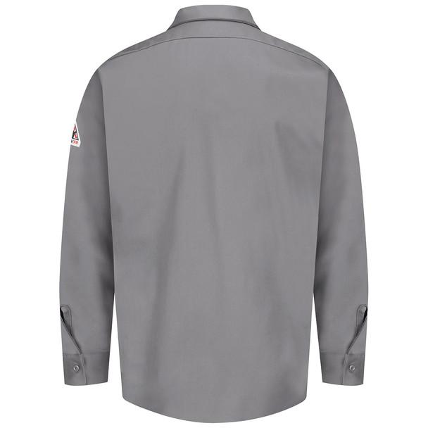Bulwark FR 7 oz. Excel Dress Shirt SEW2 Silver Gray Back