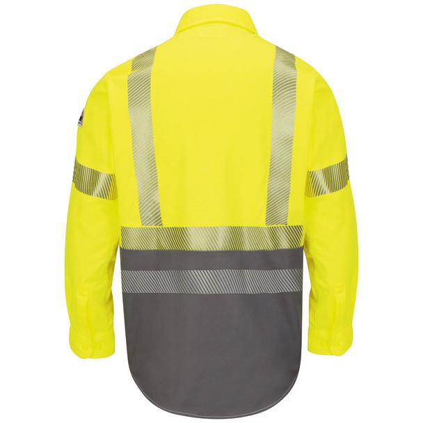 Bulwark FR Class 3 Hi-Vis Color Block Uniform Shirt ComforTouch SLB4HG Back