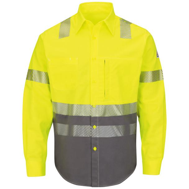 Bulwark FR Class 3 Hi-Vis Color Block Uniform Shirt ComforTouch SLB4HG Front