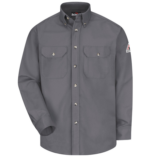 Bulwark FR Comfortouch Excel 7 oz. Dress Work Shirt SLU2 Gray Front
