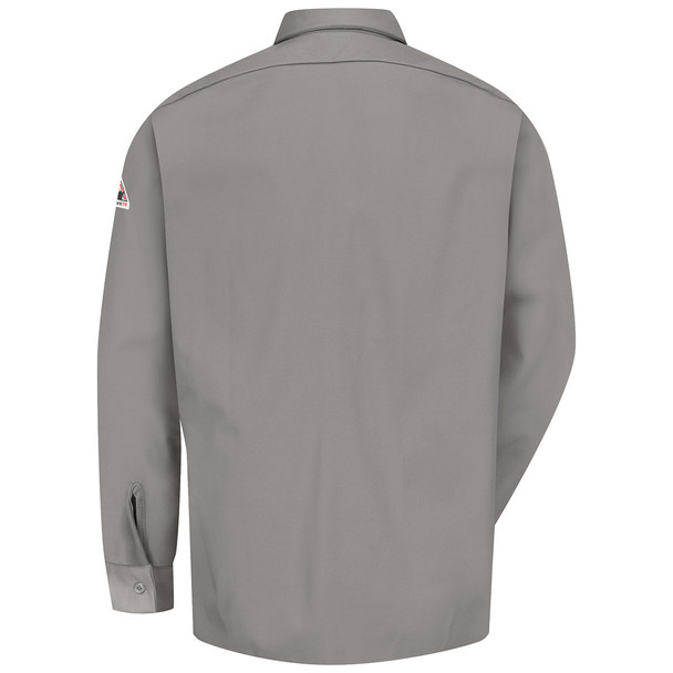 Bulwark FR Comfortouch Excel 7 oz. Work Shirt SLW2 Gray Back