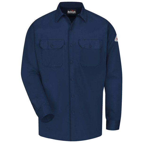 Bulwark FR Comfortouch Excel 7 oz. Work Shirt SLW2 Navy Front