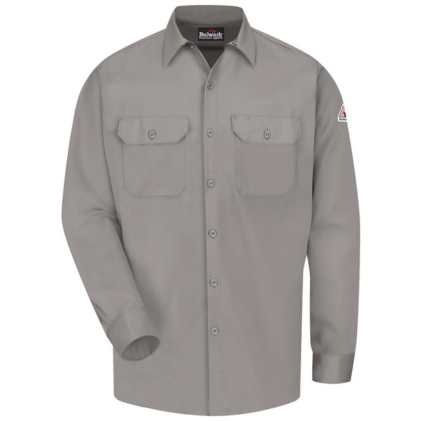Bulwark FR Comfortouch Excel 7 oz. Work Shirt SLW2 Gray Front