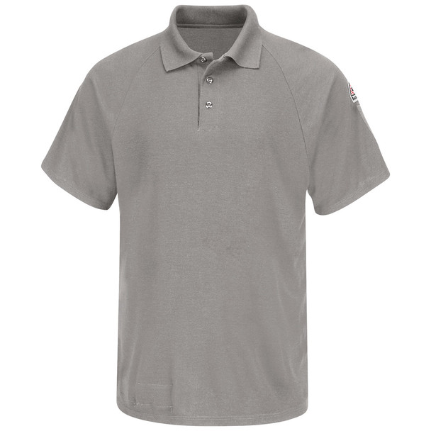 Bulwark FR Cooltouch 2 Short Sleeve Polo Shirt SMP8 Gray Front