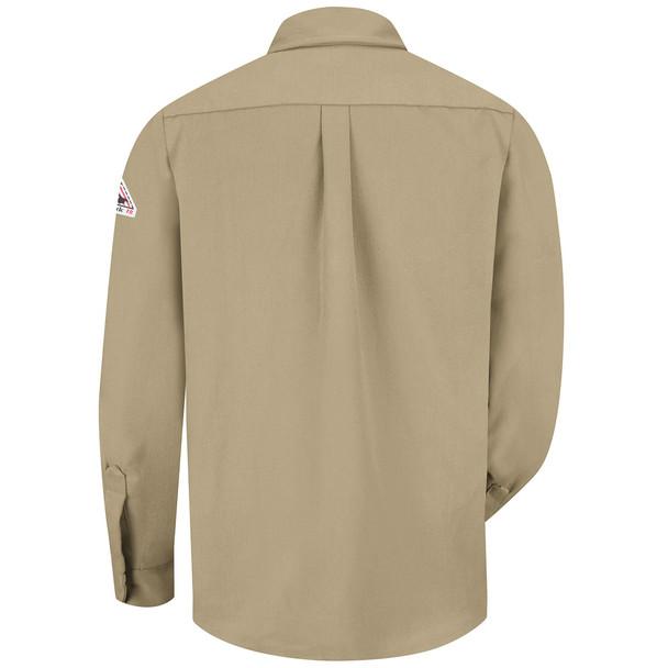 Bulwark FR Dress Shirt 7 oz SMU2 Khaki Back