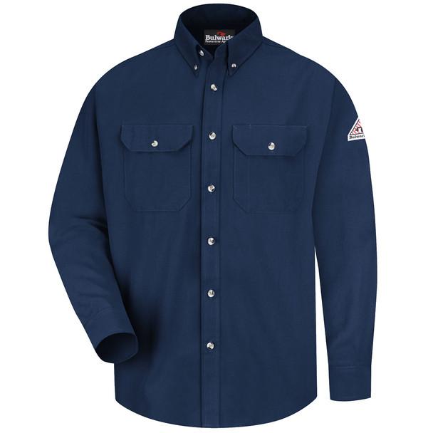 Bulwark FR Dress Shirt 7 oz SMU2 Navy Front