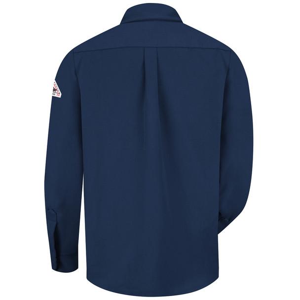 Bulwark FR Dress Shirt 7 oz SMU2 Navy Back