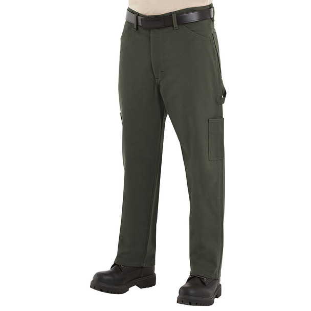 Bulwark FR Dungarees Comfortouch PLJ8 Olive Duck
