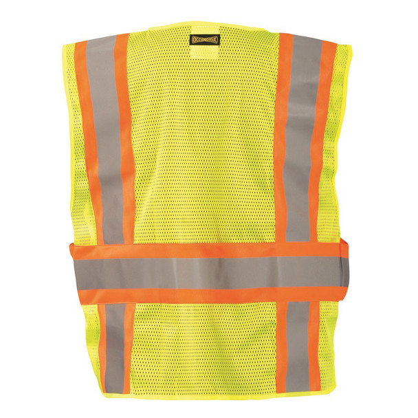 Occunomix Class 2 Hi Vis Yellow Adjustable Safety Vest LUX-SC2TB Back