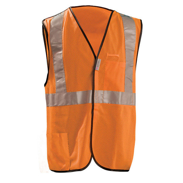 Occunomix Class 2 Hi Vis 5-Point Break-Away Mesh Safety Vest LUX-SSBRPC Orange Front