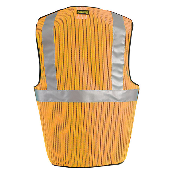 Occunomix Class 2 Hi Vis 5-Point Break-Away Mesh Safety Vest LUX-SSBRPC Orange Back