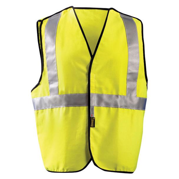 Occunomix FR Class 2 Hi Vis Yellow Break-Away Solid Vest LUX-SSCBRFR