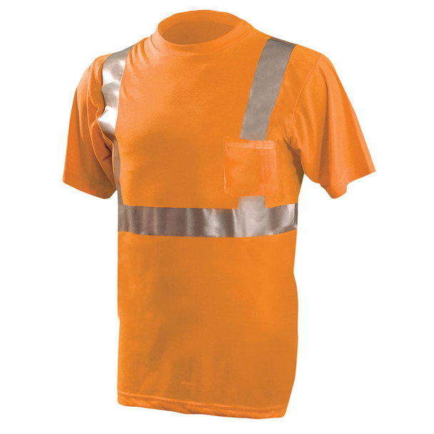 Occunomix Class 2 Hi Vis Spun Polyester T-Shirt LUX-SSETP2 Orange Front