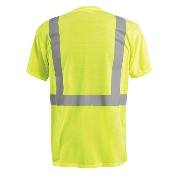Occunomix Class 2 Hi Vis Spun Polyester T-Shirt LUX-SSETP2 Yellow Back