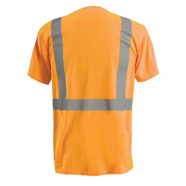 Occunomix Class 2 Hi Vis Spun Polyester T-Shirt LUX-SSETP2 Orange Back