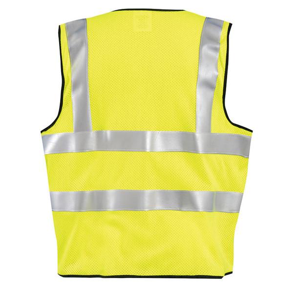 Occunomix FR Class 2 Hi Vis Yellow Mesh Safety Vest LUX-SSFGCFR Back