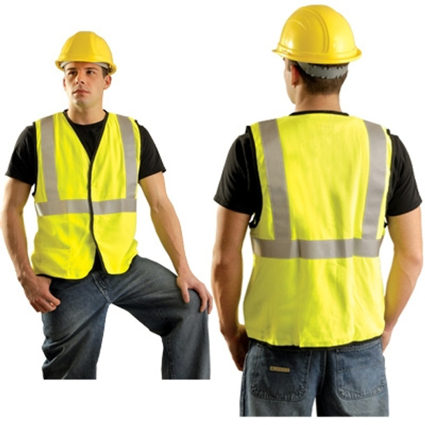 Occunomix FR Class 2 Hi Vis Safety Vest LUX-SSG-FR Yellow Front/Back