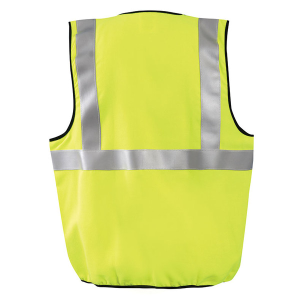 Occunomix FR Class 2 Hi Vis Yellow Safety Vest LUX-SSG-FR Yellow Back