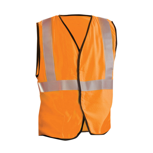 Occunomix FR Class 2 Hi Vis Yellow Safety Vest LUX-SSG-FR Orange Front