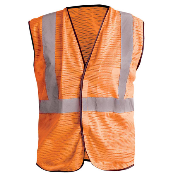 Occunomix Class 2 Hi Vis Mesh Safety Vest LUX-SSGC Orange Front
