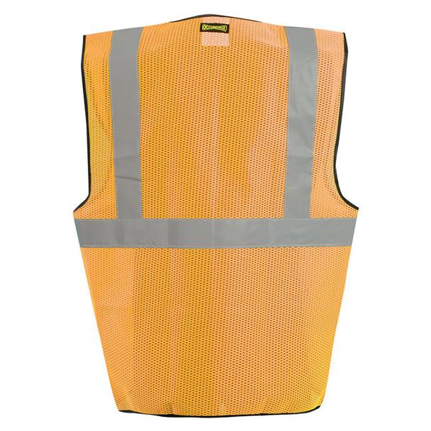 Occunomix Class 2 Hi Vis Mesh Safety Vest LUX-SSGC Orange Back