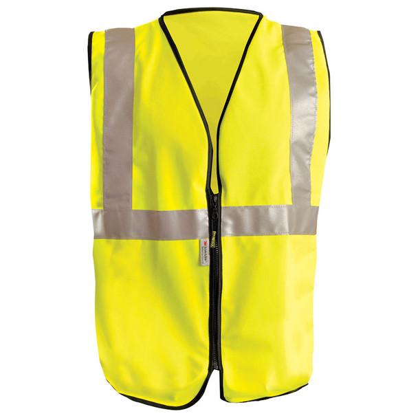 Occunomix Class 2 Hi Vis Yellow Solid Safety Vest LUX-SSGZ Front