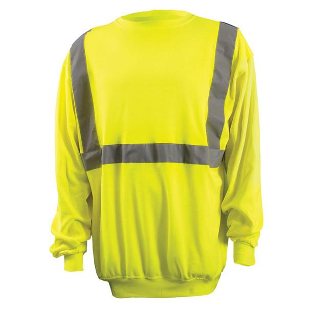 Occunomix Class 2 Hi Vis Yellow Crew Neck Sweatshirt LUX-SWTL Front