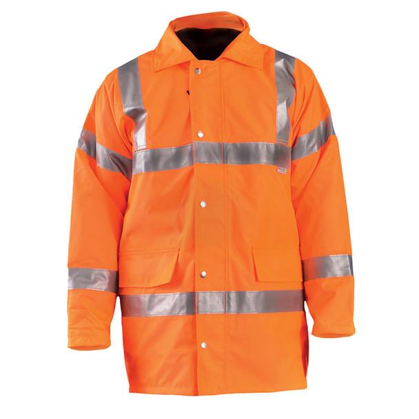 Occunomix Class 3 Hi Vis 5-in-1 Winter Coat LUX-TJFS Orange Front