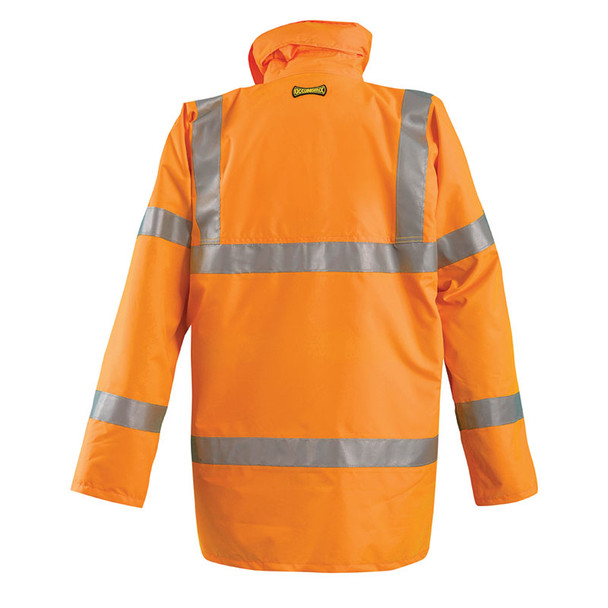 Occunomix Class 3 Hi Vis 5-in-1 Winter Coat LUX-TJFS Orange Back