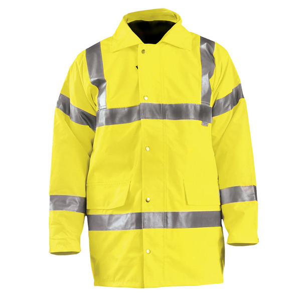 Occunomix Class 3 Hi Vis 5-in-1 Winter Coat LUX-TJFS Yellow Front