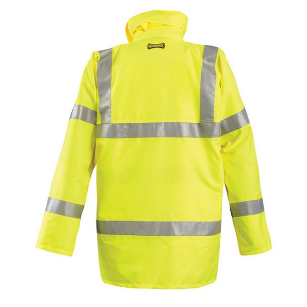 Occunomix Class 3 Hi Vis 5-in-1 Winter Coat LUX-TJFS Yellow Back