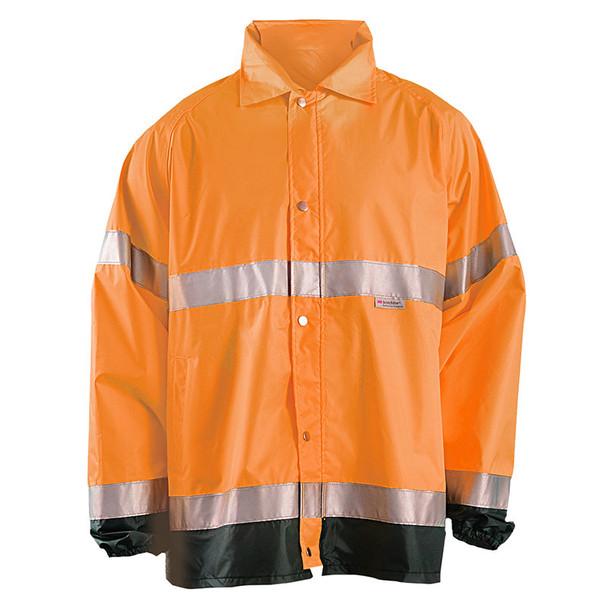 Occunomix Class 3 Hi Vis Breathable Rain Jacket LUX-TJR Orange Front