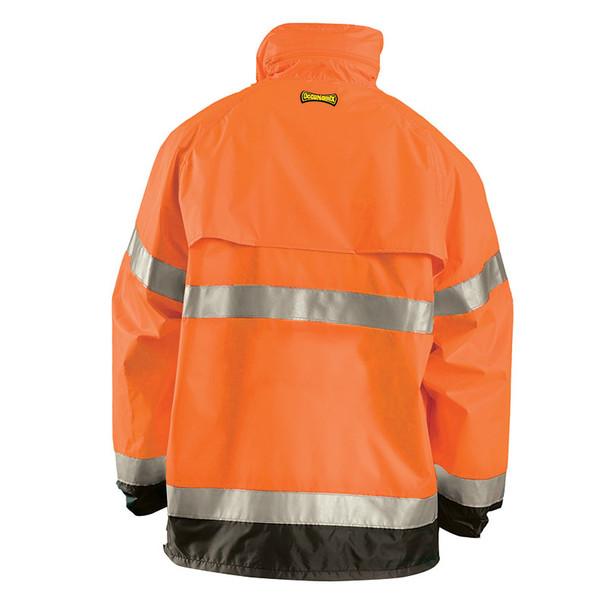 Occunomix Class 3 Hi Vis Breathable Rain Jacket LUX-TJR Orange Back