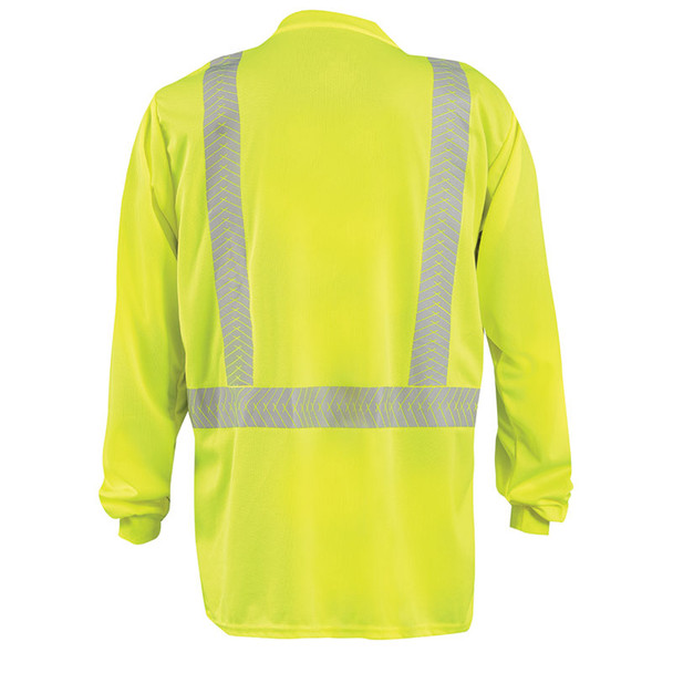 Occunomix Class 2 Hi VIs Long Sleeve T-Shirt with Segmented Tape LUX-TLSP2B Back