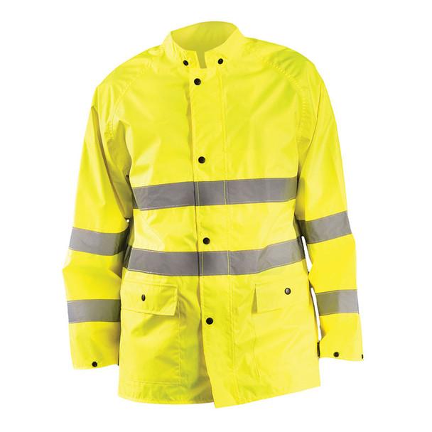Occunomix Class 3 Hi Vis Classic Rain Safety Jacket LUX-TRJKT Front