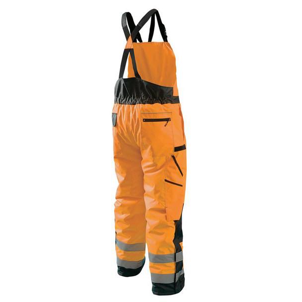 Occunomix Class E Hi Vis Cold Weather Bib Pants LUX-WBIB Orange Back
