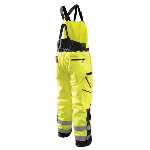 Occunomix Class E Hi Vis Cold Weather Bib Pants LUX-WBIB Yellow Back