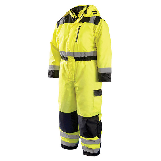 Occunomix Class 3 Hi Vis Cold Weather Coverall LUX-WCVL Front
