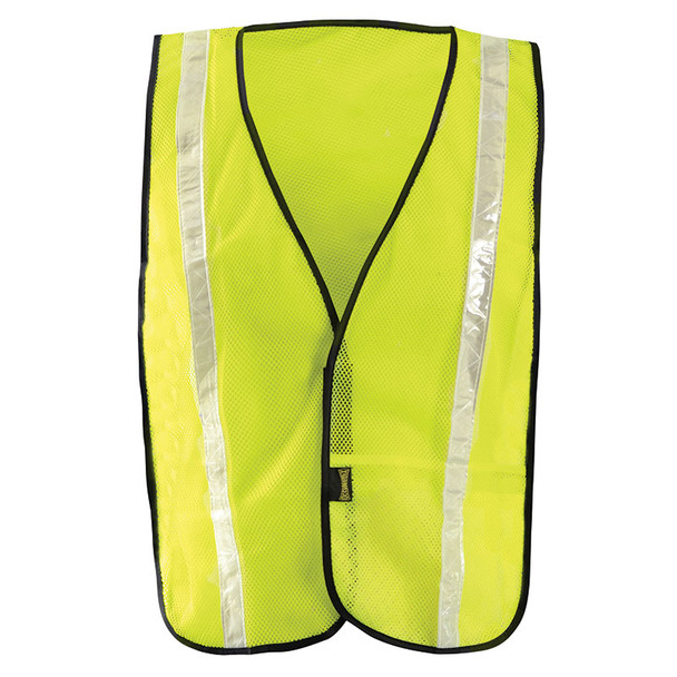 Occunomix Non ANSI Hi Vis Mesh Vest Gloss Reflective LUX-XGTM Yellow Front