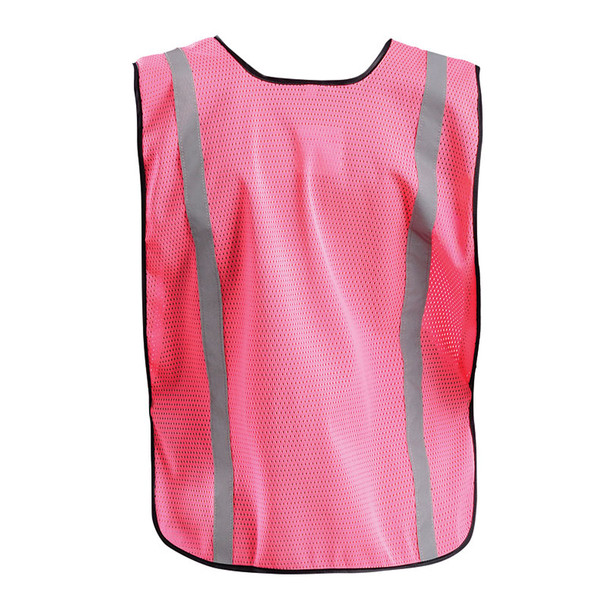 Occunomix Non-ANSI Pink Mesh Safety Vest With Reflective LUX-XSBML-P Back