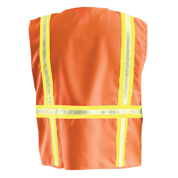 Occunomix Non-ANSI High Contrast Vest with Zipper Front LUX-XTRANS Orange Back