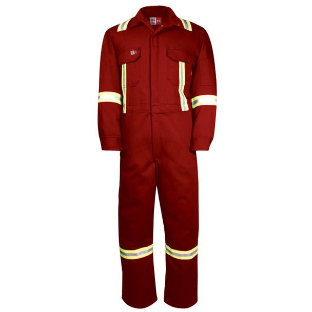 Big Bill FR X-Back UltraSoft 7 oz Deluxe Unlined Coveralls 1625US7 Red
